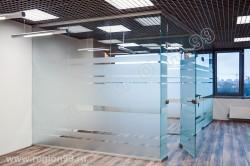 стеклянные перегородки 10 мм.
