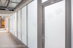стеклянные стационарные перегородки