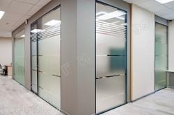 стеклянные перегородки каркасные